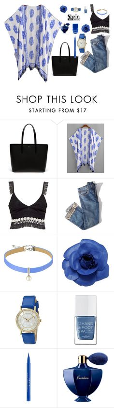 """""""Untitled #134"""" by angelinaryashko22 ❤ liked on Polyvore featuring Lacoste, Jonathan Simkhai, Brock Collection, Majorica, Chanel, Akribos XXIV, The Hand & Foot Spa, Stila and Guerlain"""