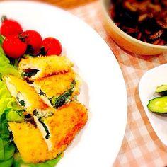 ♡2015.3.30晩ご飯♡ - 15件のもぐもぐ - ササミの大葉とチーズ巻きフライ・ひじきの煮物 by mshunasharp