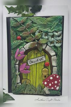 Fairy Door Journal / Notebook, Forest, Faeries, Nature. Secret Garden.