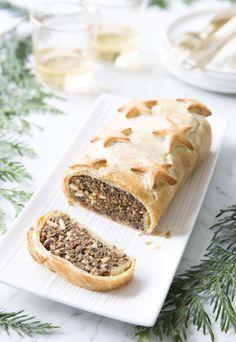 Photo de la recette : Rôti de Noël lentilles champignons – vegan