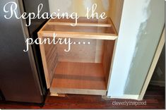 Wood countertop and building a base cabinet DIY from Cleverly Inspired blog.