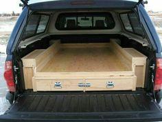 Diy Truck Bed Tool Storage, Homemade Camping Truck Bed Storage and Sleeping Platform - Trucks Image Gallery Truck Bed Storage, Tool Storage, Truck Bed Organizer, Storage Ideas, Vehicle Storage, Drawer Ideas, Camping Storage, Storage Boxes, Storage Solutions