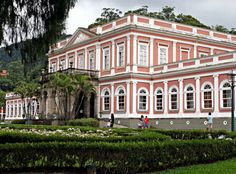 Imperial Palace, Petrópolis, Rio de Janeiro, Brazil: built in 1845 and was the summer residence of Dom Pedro II. Now it is the Imperial Museum of Brazil.