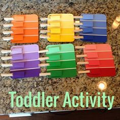 Toddler Activity, Color Sorting, Color Matching, Fine Motor Skills, Preschool activity, Learning, Home Depot, Color Swatches