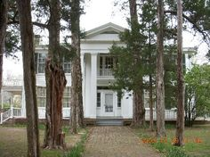 Rowan Oak in Oxford, MS. Built c. 1848. From 1930 to 1962 was home to novelist William Faulkner, who named it for the rowan tree, a symbol of security & peace. It is now maintained as a literary landmark of the University of Mississippi.