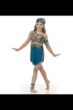 Mackenzie modeling for Creations By Cicci's 2015 dance costume catalog