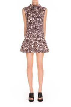 LONELY SEA DRESS | apricot & navy leopard print | $89.95 | SHOP FESTIVAL | BNKR |