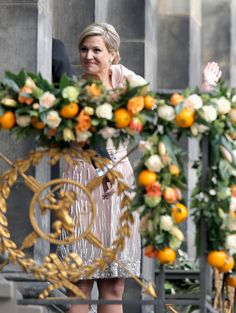 Queen Maxima on the balcony 4/30/2013