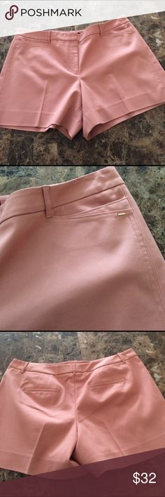 NWT WHBM Dusty Pink Tailored Shorts Nice material. Brand new 5 inch Tailored Shorts White House Black Market Shorts