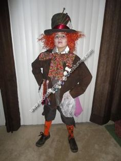 Handmade Mad Hatter Costume: This is an awesome handmade Mad Hatter costume!!! When I make a costume for my kids, I try to get it as close to the real thing as possible! Every part