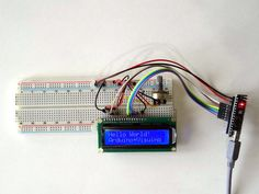 Arduino Nano: Directly connected 2 X 16 LCD Display With Visuino
