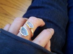 SALE WAS 85.00 Gold Geode Ring Geode Jewelry by alittledazzle, $72.00