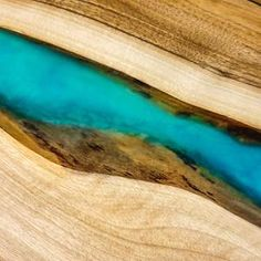 Bed side end resin table with glowing resin image 1 Coffee Table To Dining Table, Wood Table, Art Diy, Live Edge Table, Resin Table, Etsy Christmas, Wood Creations, Turquoise Color, Beautiful Christmas