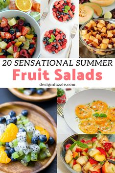 These summer fruit salads are guaranteed healthy and delicious! They are also a feast for the eye with their beautiful, vibrant colors! Side Dishes For Chicken, Side Dishes Easy, Summer Salads With Fruit, Fruit Salads, Beef Recipes, Cod Recipes, Carrot Recipes, Fudge Recipes, Shrimp Recipes