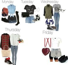 Week outfits cute or what? Little mix style
