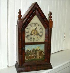 Antique Sharp GOTHIC STEEPLE CLOCK