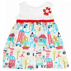 Girl dress made with Monaluna organic fabrics - Vestido niña Monaluna / BBCO - Artesanio