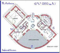 "a straw bale house plan, butch, ""L"", 2970 sq. ft."