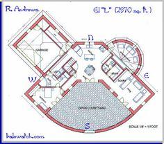 """a straw bale house plan, butch, """"L"""", 2970 sq. ft."""