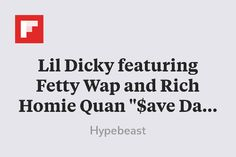"""Lil Dicky featuring Fetty Wap and Rich Homie Quan """"$ave Dat Money"""" Music Video http://flip.it/LQ91p"""
