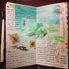 #手账 #手賬 #travelersnotebook #tn #mt #midori #maskingtape #紙膠帶 #Lamy #sketch #travelersnote #mtn #mt紙膠 #和紙膠帶 #hobo