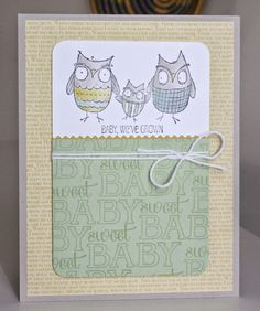 Little Bay Stampin': CCC#032: May 2014 Cards Challenge - Rock-a-Bye Baby