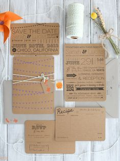 Love the idea of postcards for save-the-dates & Love the wording on the wedding invitation