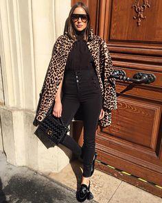 Best Winter Coats for 2017 Celebrities Love - Olivia Culpo in a leopard coat