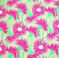 lillyfabricland -Authentic New Lilly Pulitzer Fabric Straw Coastal Kiss 1 Yard x 45 inches. $15.99, via Etsy.