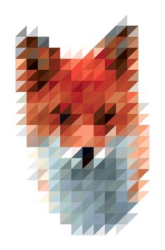 "Sliced Pixel ""Fox"" Print - Victor Van Gaasbeek"