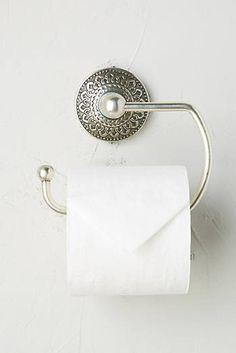 Brass Medallion Toilet Paper Holder