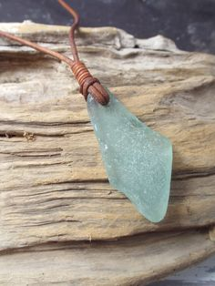 Sea glass jewelry Aqua Sea Glass Necklace by byNaturesDesign, $14.00