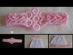 Tiara - diadema - vincha - banda en crochet, punto fantasía, My Crafts and DIY Projects