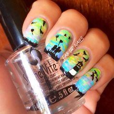 """""""Light house"""" moyou rebel plate02, fun4, stampaholic 01 image plates, purecolor detail brush, justnail acrylic paints by faburnails - alineb..."""