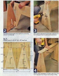 #323 Knockdown Sawhorse Plans - Workshop Solutions Plans, Tips and Tricks