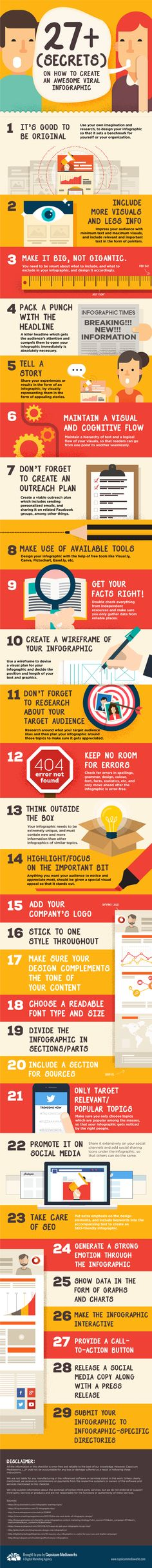 27+ (Secrets) on How To Create An Awesome #Viral #Infographic