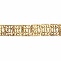 A 9ct gold bracelet.