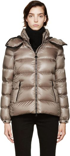 Moncler Taupe Down Bady Coat   SSENSE #ShoppingIS ShoppingIS.me