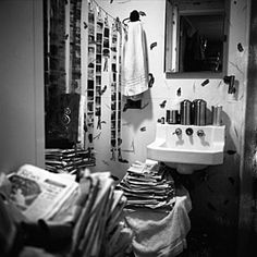 Vivian Maier's bathroom with her negatives in Chicago, 1956. I like this picture because it shows what it means to be completely passionate about a project.