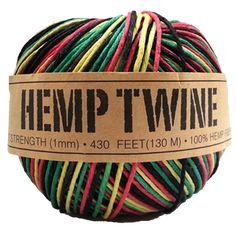 Get your rasta hemp twine in bulk. 100% Hemp, 100% Irie