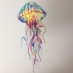 Tatoo Art, Body Art Tattoos, Tattoo Sketches, Art Sketches, Jellyfish Painting, Seahorse Art, Johanna Basford Coloring Book, Denim Art, Calf Tattoo