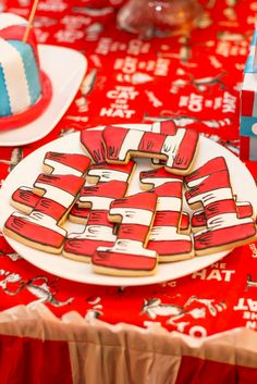 Awesome cookies at a Dr. Seuss party! See more party ideas at CatchMyParty.com! #drseuss #partyideas