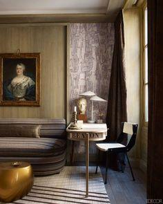 The modern library | Jean-Louis Deniot, Elle Decor