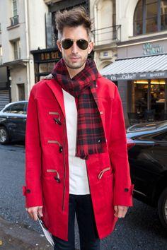 Paris Fashion Week - Street Style Men  For more: www.wmfeed.me