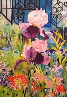 Garden, Blackfriar's Garden, Paintings, Art, Paint, Garten, Painting Art, Kunst, Draw, Lawn And Garden
