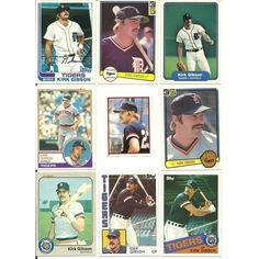 HUGE 50 + Different KIRK GIBSON cards lot 1982 - 2013 Tigers Dodgers Royals Listing in the 1980-1989,Sets,MLB,Baseball,Sports Cards,Sport Memorabilia & Cards Category on eBid United States | 147950033