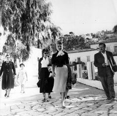 Sophia Loren in Hydra, Greece