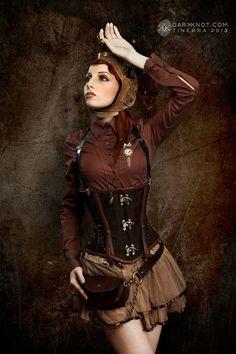 Steampunk Tendencies | Courtesy darkknot.com #Fashion #steamPUNK ♞ #girl