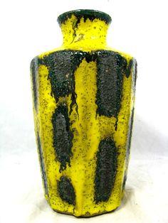 Rare / seltene  70´s design Roth / Marei Keramik  pottery vase  1100 / 1  25 cm