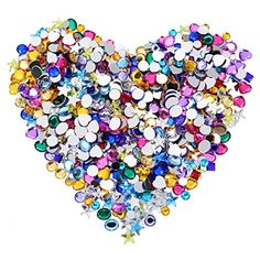 buy now   $14.99 Blulu acrylic craft jewels flatback rhinestones hearts stars square oval and round gems crystals  Features: Flatback gemstones size: 9 mm In heart gems, 10 mm in star gems, 6 mm in square gems, 8 x 10 mm in oval gems, 6 mm in round cabochon gems and 8 mm in round flat top gems... http://www.planetmarket.eu/product/blulu-600-pieces-6-to-10-mm-acrylic-craft-jewels-flatback-rhinestones-heart-star-square-oval-and-round-gems-gemstone-embellishments-assorted-color/